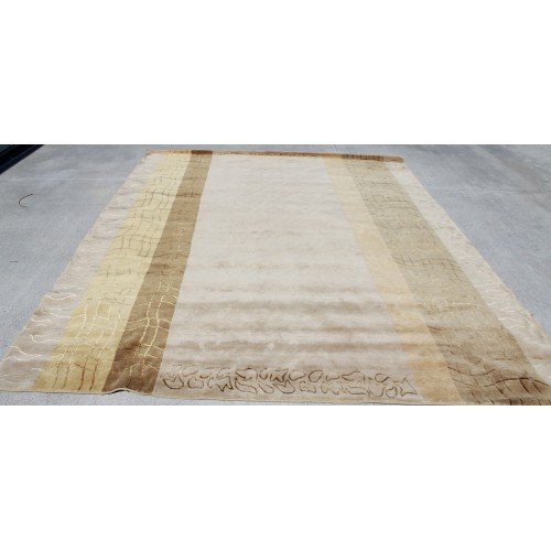 Rs121 Gorgeous Neutral Color Hand Crafted Tibetan Area Rug 8