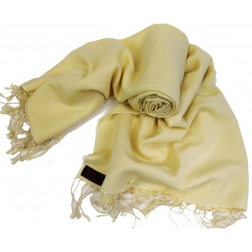 pl56 gorgeous light yellow color shawl wrap handmade in nepal