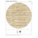 Made to order- Custom Order  Tibetan Random Striped 12' Round Rug on Wool and Silk  Handmade in Nepal