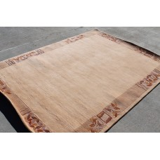 R4370 Exclusive Tibetan Contemporary Woolen Area Rug 5.7' x 7.10' Handmade in Nepal
