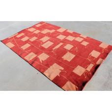 R3914 Exclusive Tibetan Contemporary Woolen Area Rug 5' x 8' Handmade in Nepal