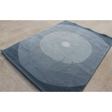 R4993 Gorgeous Contemporary Thick Blue  Woolen Tibetan Rug 5.7' X 7.8' Handmade in Nepal