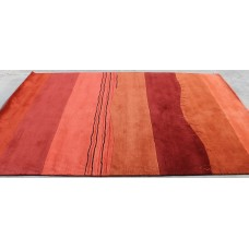 R17723 Gorgeous Contemporay Tibetan Woolen Area Rug 6' x 9' Handmade In Nepal