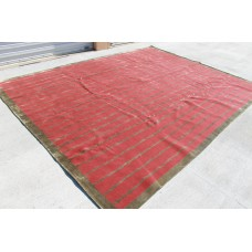 RS27504 Gorgeous Wool & Silk Contemporary Tibetan Area Rug on Garnet Red 9' x 12' Handmade in Nepal