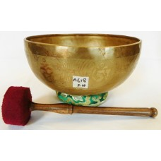 "A618 Magnificent Heart 'F#' Chakra Helaing Tibetan Singing Bowl 9.75"" wide Hand Hammered in Nepal"
