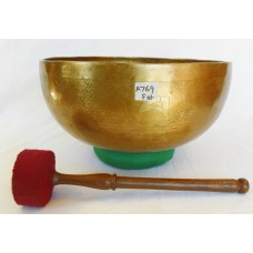 "A636 Energetic Throat 'G#' Chakra  Healing 12"" Wide Hand Hammered Tibetan Singing Bowl Made In NEPAL"