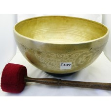 "E634 ENERGETIC THIRD EYE 'A' CHAKRA  HEALING HAND HAMMERED TIBETAN SINGING BOWL 10.75"" WIDE MADE IN NEPAL"